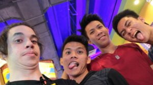 Ez Mill with his friends in the Philippines