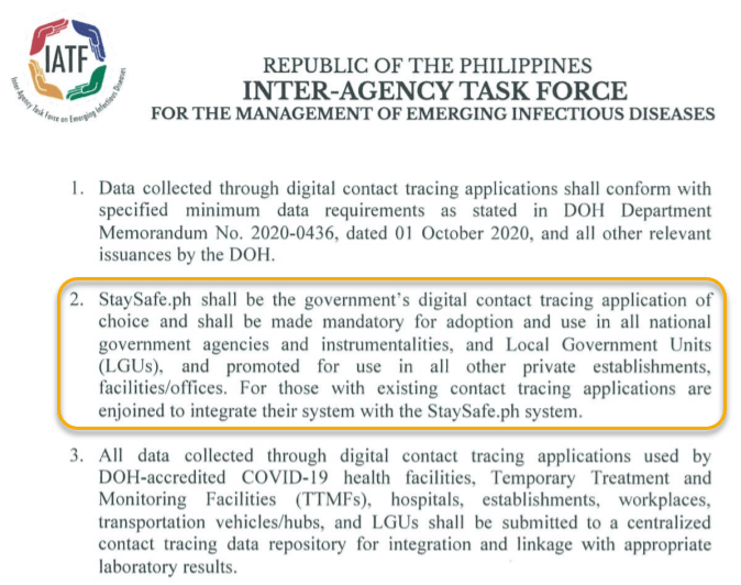 Philippine COVID-19 Contact Tracing